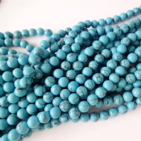 16 Inch 4mm Round Turquoise Beads